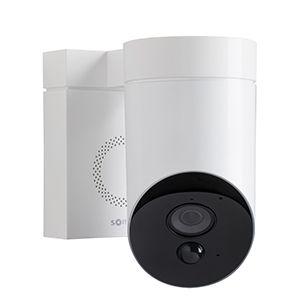 Caméra de surveillance extérieure blanche Somfy