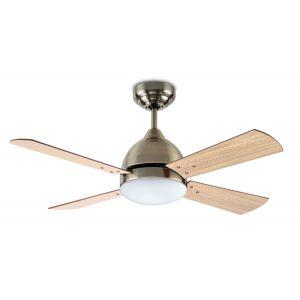 Ventilateur de plafond Borneo acier patiné