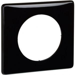 Plaque 1 poste Céliane laqué noir