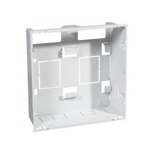 Bac + cadre métal 2 travées DRIVIA 13 pour coffret 2 rangées + panneau Enedis + coffret de communication basique
