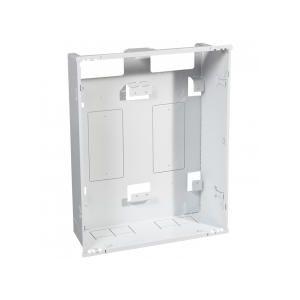 Bac + cadre métal 2 travées DRIVIA 13 pour coffret 3 rangées + panneau Enedis + coffret de communication basique