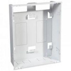 Bac + cadre métal 2 travées DRIVIA 13 pour coffret 4 rangées + panneau Enedis + coffret de communication basique