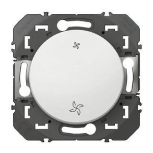 Poussoir commande VMC dooxie finition blanc 600006 Legrand