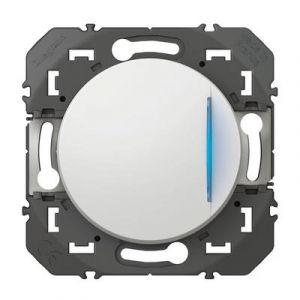 Interrupteur/va-et-vient voyant lumineux dooxie 10AX 250V~ finition blanc