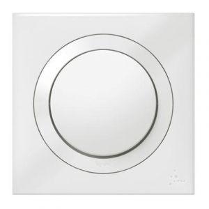 Interrupteur ou va-et-vient dooxie IP44 10AX 250V~ livré avec plaque carrée blanche