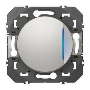 Interrupteur ou va-et-vient avec voyant témoin dooxie 10AX 250V~ finition alu