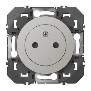 Prise de courant 2P+T Surface dooxie 16A finition aluminium - 600435 - Legrand