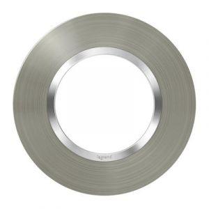 Plaque ronde dooxie 1 poste finition effet inox brossé