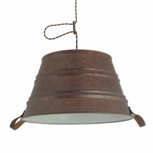 Suspension Bucket marron vieilli diamètre 450
