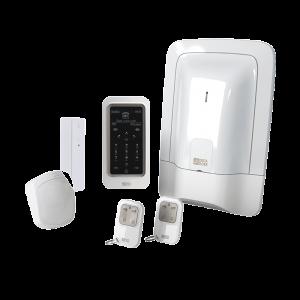 Pack alarme 2 zones sans fil préconfiguré