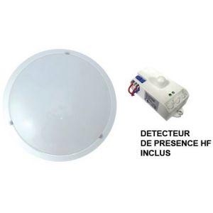 Plafonnier LED d'extérieur avec détecteur diam. 300 - 18W - 4000°K