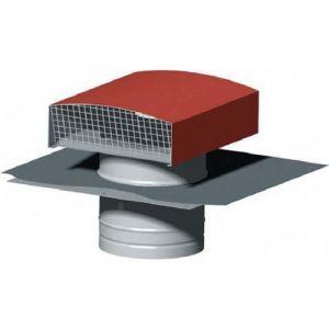Chapeau de toiture métallique CT 125 - ø125mm - Tuile