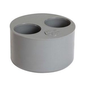 Tampon réduit 2 trous en 100-40x40
