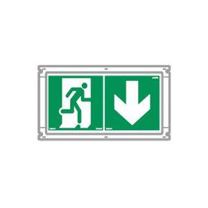 Kit de 2 étiquettes d'évacuation