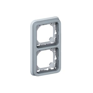 Support Plexo 2 postes vertical - Gris