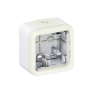 Boîtier Plexo 1 poste - Blanc