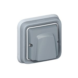Sortie de câble Plexo complet encastrée - Gris - 069848 - Legrand