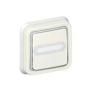 Poussoir porte-étiquette lumineux Plexo complet encastré - Blanc 069864 Legrand