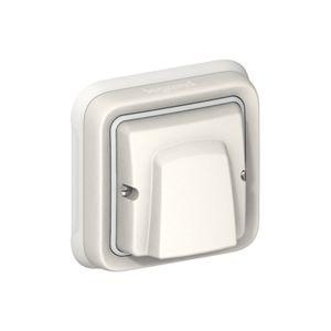 Sortie de câble Plexo complet encastré - Blanc