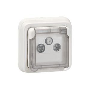 Prise TV R  SAT Plexo composable - Blanc Artic