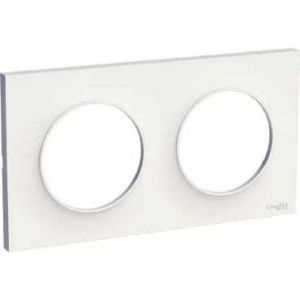 Plaque 2 postes Odace Styl - Blanche