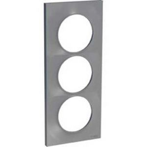 Plaque 3 postes entraxe 57mm Odace Styl - Alu