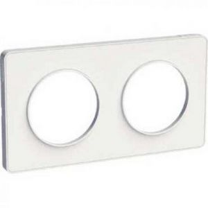 Plaque 2 postes Odace Touch - Blanc