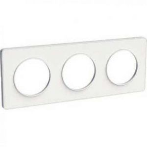 Plaque 3 postes Odace Touch - Blanc