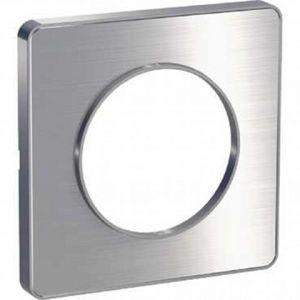 Plaque 1 poste Odace Touch - Alu brossé