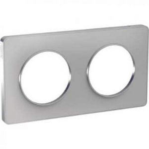 Plaque 2 postes Odace Touch - Alu