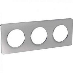 Plaque 3 postes Odace Touch - Alu