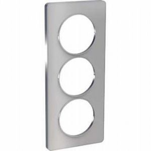 Plaque 3 postes entraxe 57mm Odace Touch - Alu