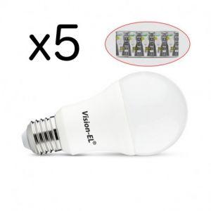 Pack de 5 Ampoules LED E27 12W 1100 Lm 4000°K