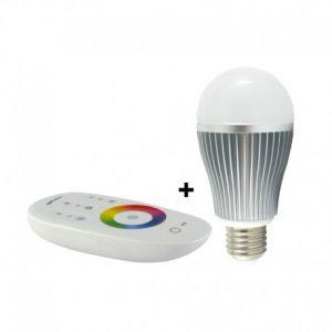Ampoule LED RGB 9W E27 + télécommande