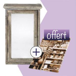 Armoire miroir + Toile ancienne boutique Offerte
