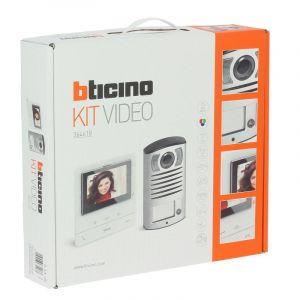 Kit portier vidéo couleur Classe 100 Basique avec écran 5pouces et boucle inductive Blanc
