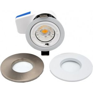 Spot led 7W fixe blanc/alu RT2012 CTC Calipso IP65 Dimmable