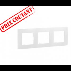 Plaque 3 postes Niloé - Pur