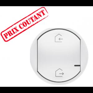 Enjoliveur de remplacement Céliane pour commande génerale sans fil Départ/Arrivée - blanc