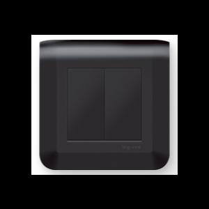 Double bouton poussoir - Mosaic Noir
