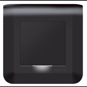 Interrupteur à voyant lumineux - Mosaic Noir