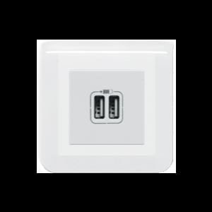 Prise double USB A - Mosaic
