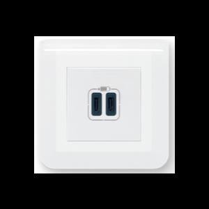 Prise double USB C - Mosaic
