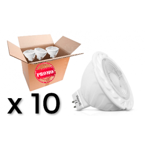 Pack 10 ampoules Led Gu5,3 6W Dimable 4000K