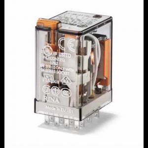 Relais embrochable 4rt 7a 230vac bouton test + indicateur mecanique