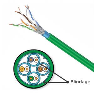 Câble Schneider Grade 3TV 10GB pour Rj45 au mètre Catégorie 6A F/FTP