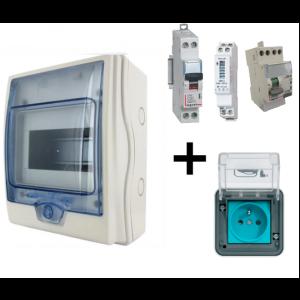 Kit recharge Sécurisé pour voiture electrique avec comptage