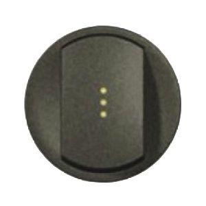 Enjoliveur interrupteur à voyant - Graphite