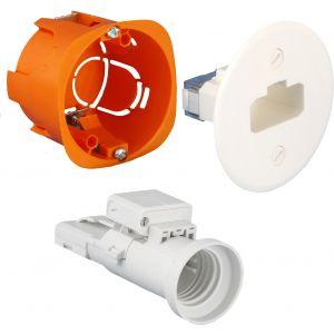 Kit boîte d'applique DCL + douille diam. 54 cloison sèche - EUR'OHM - 53039