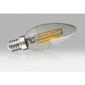Ampoule à filament LED flamme E14 - 4W blanc chaud